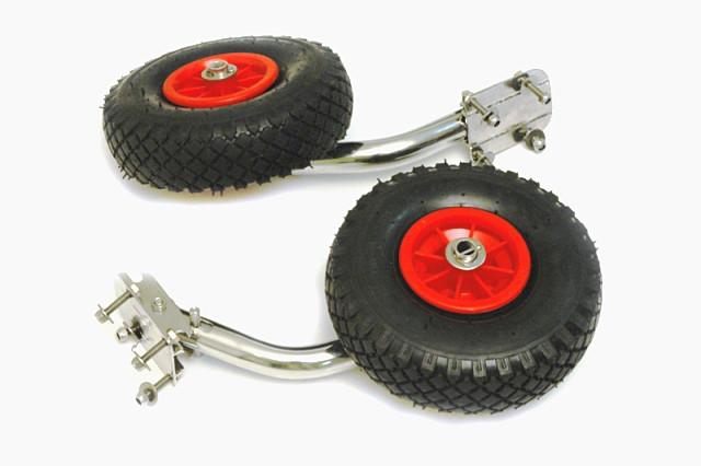Транцевые колеса сделай сам